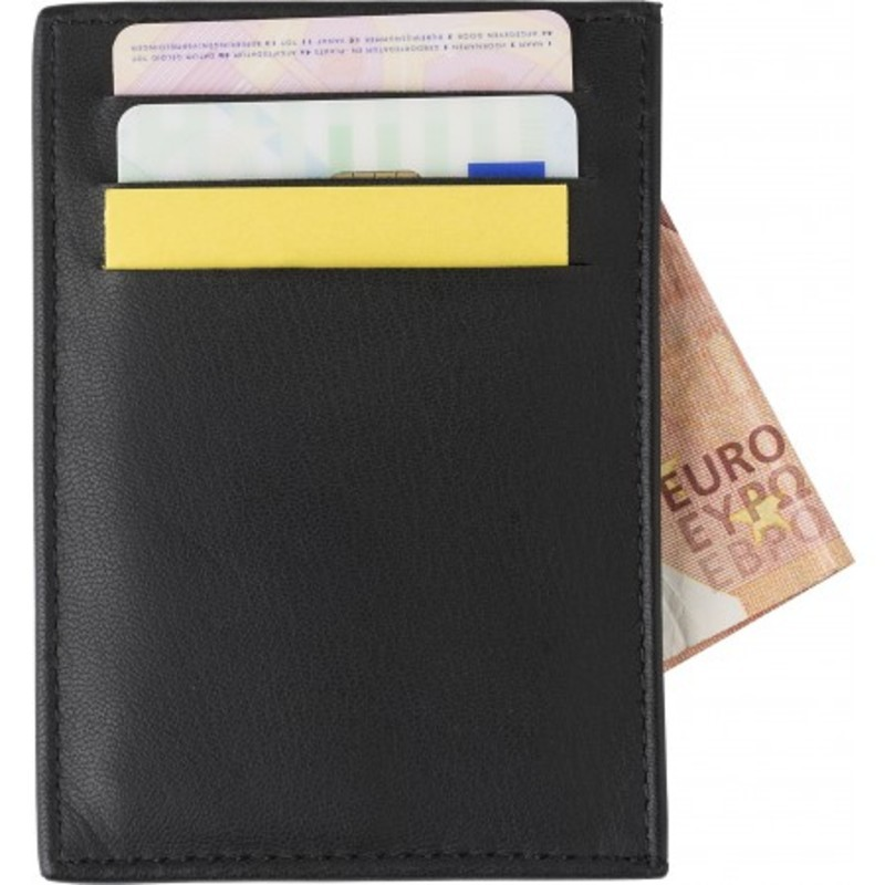 Split leather RFID (anti skimming) credit card wall