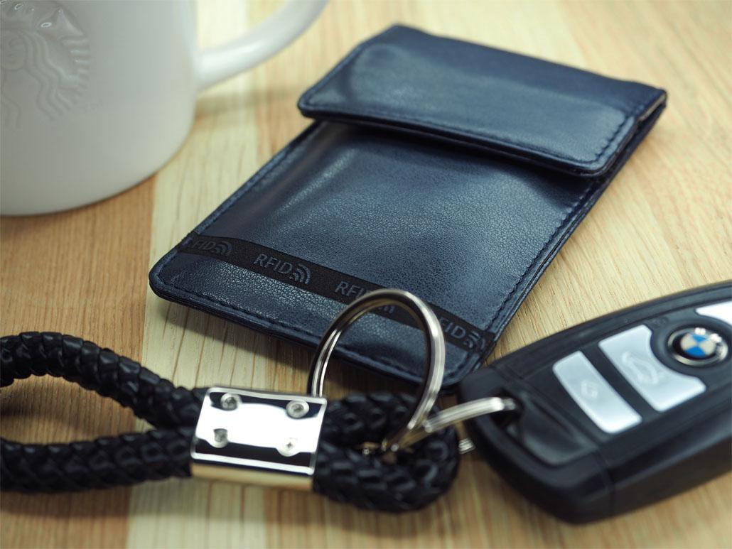 Case for the keys blocking radio waves
