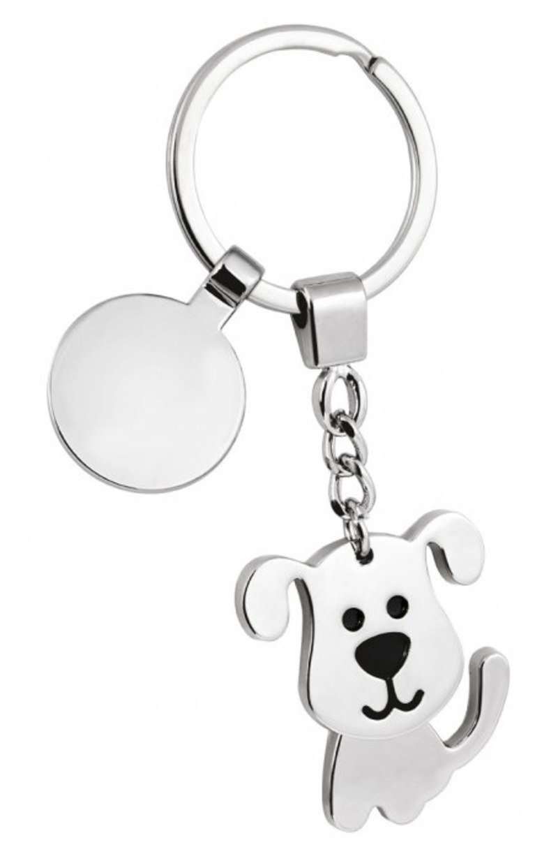 KEY CHAIN LITTLE DOG TWISTED/COIN