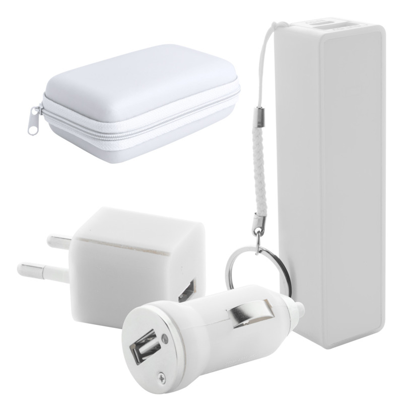 Rebex USB charger and power bank set
