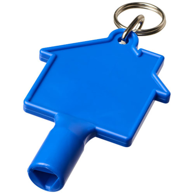 Maximilian house-shaped meterbox key with keychain