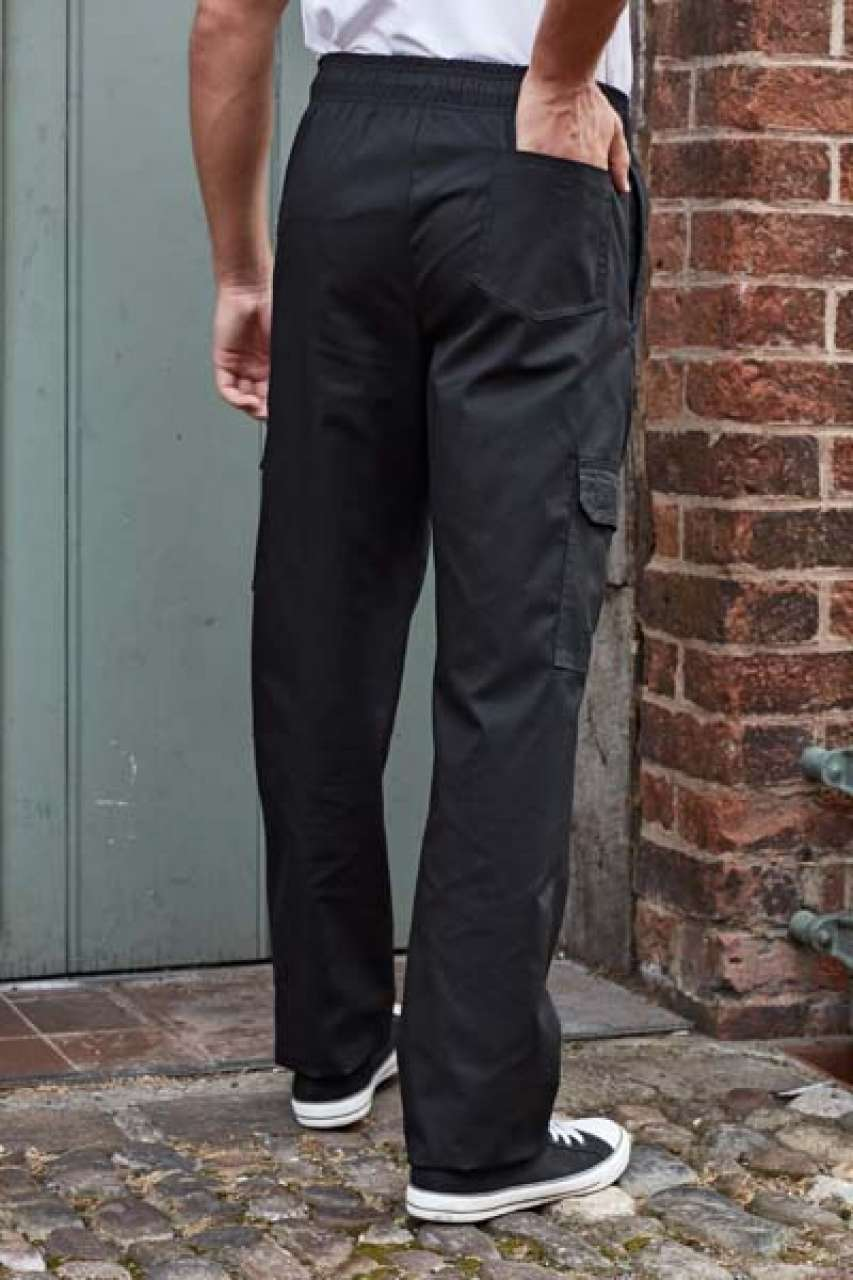 'ESSENTIAL' CHEF'S CARGO POCKET TROUSERS