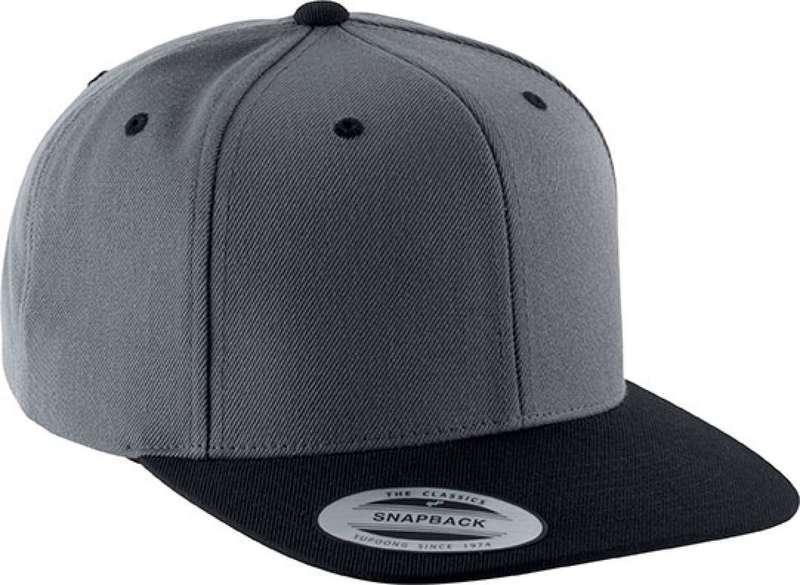 FLAT PEAK CAP - 6 PANELS