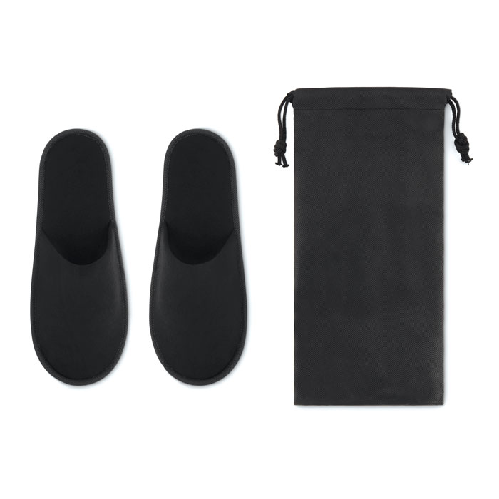 Pair of slippers in pouch